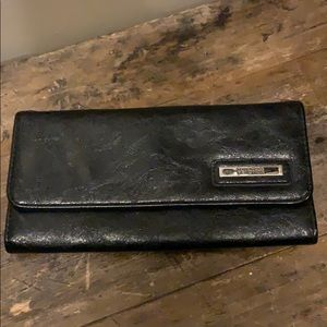 """Kenneth Cole Reaction Black Leather Wallet 8""""x4"""""""
